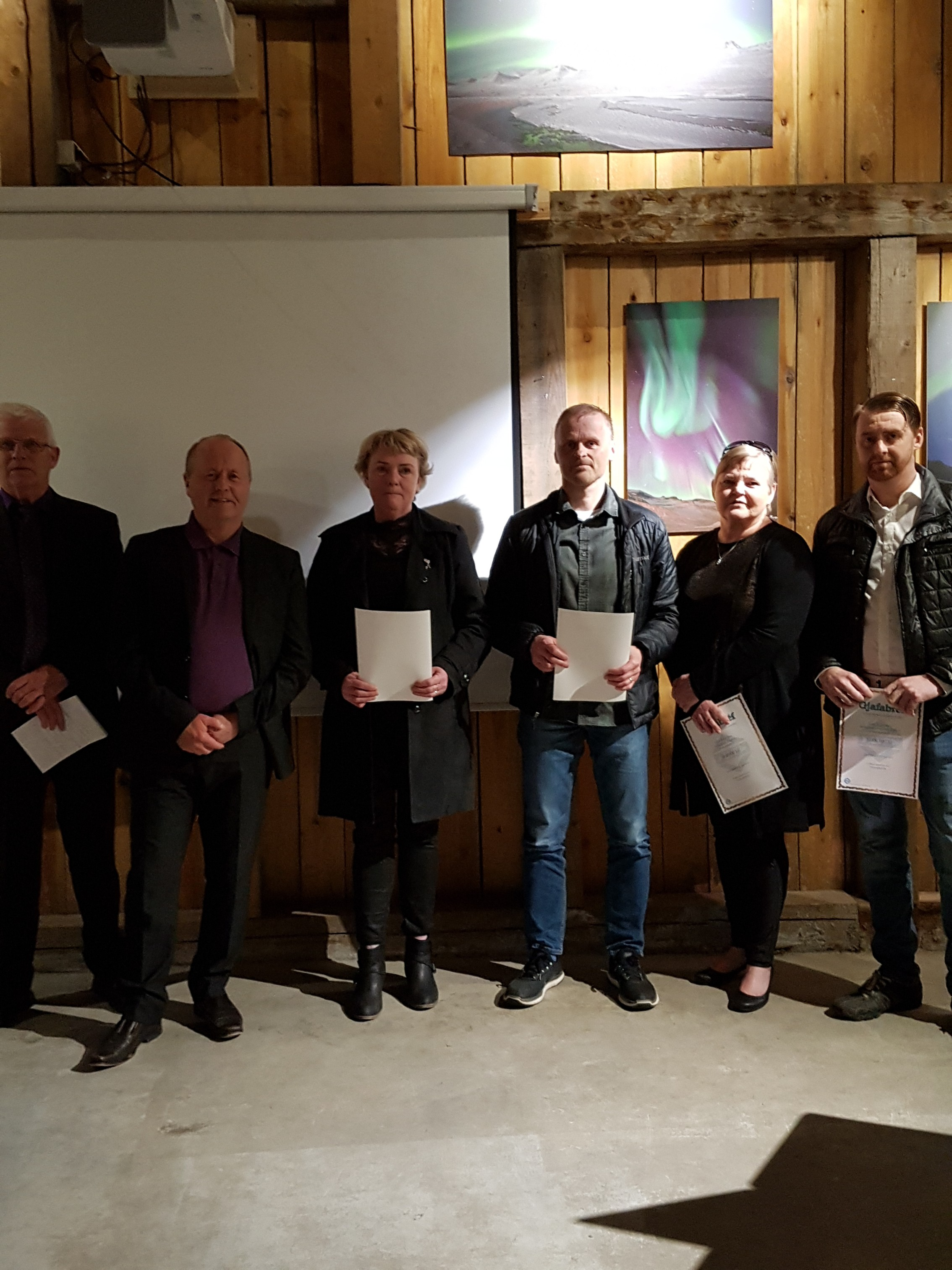 Lars Gunnarsson, Friðrik Mar Guðmundsson, Alberta Eide Guðjónsdóttir, Valur Sveinsson, María Ósk Óskarsdóttir og Grétar Helgi Geirsson