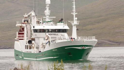 Hoffell á landleið með 1.000 tonn.